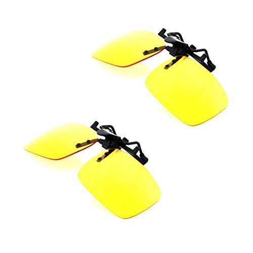 iLumen8 Best Shooting Glasses Night Driving Yellow UV Clip-Fit-Over Prescription