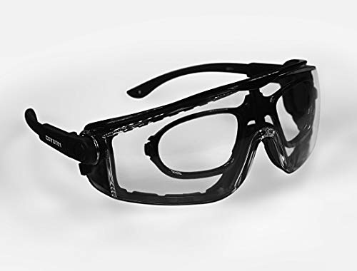 Coyote1 Adjustable Shooting Safety Glasses with RX Prescription Insert - Padded Frames and Multiple...