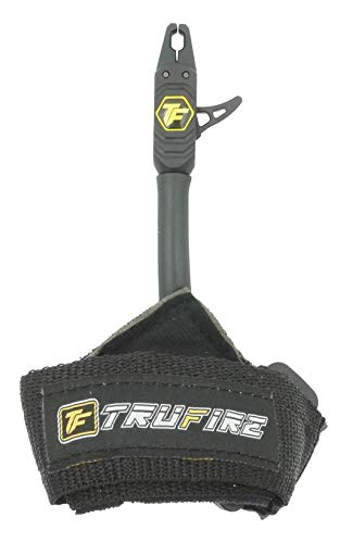 TruFire Patriot Archery Compound Bow Release - Adjustable Black Wrist Strap