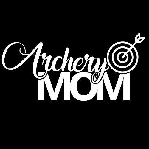 Archery Mom Sports Vinyl 6 Inch Decal - [White]