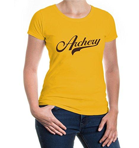 Girlie T-Shirt Archery Logo-XXL-sunflower-brown