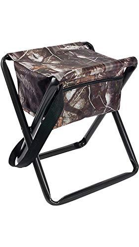Allen Company Camo Folding Hunting Stool with Storage Pouch- Next G2 Camo - 12L x 14.5W x 17H...