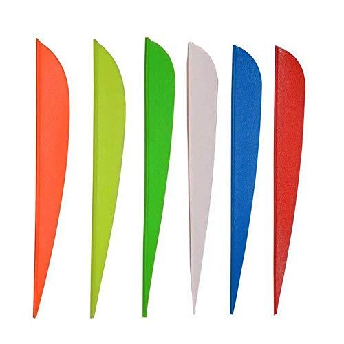 ISPORT 2.5'' 3' 4'' 5'' Archery Vanes Fletches Plastic DIY Arrow Fletching 50pcs 100pcs 3 Color...