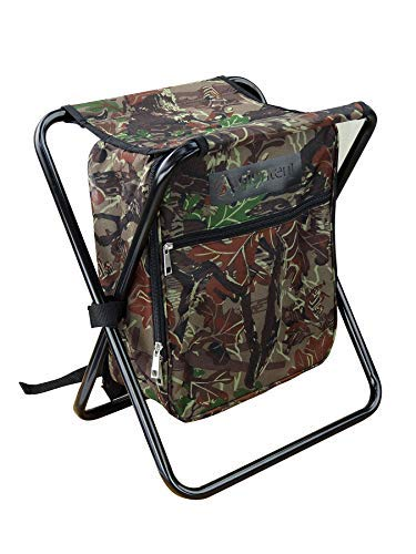 GigaTent Folding 3 in 1 Stool Backpack Folding Stool with Cooler Bag - Camping Hunting Fishing...