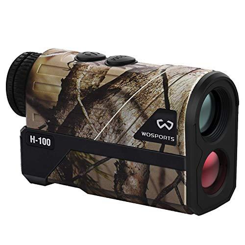 WOSPORTS 1200 Yards Hunting Rangefinder Laser Rangefinder Archery Bow Hunting Ranging with Flagpole...