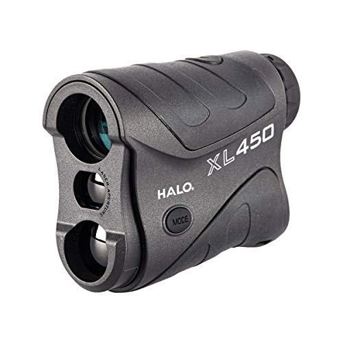 Halo XL450 Range Finder, 450 Yard laser range finder for rifle and bow hunting , black