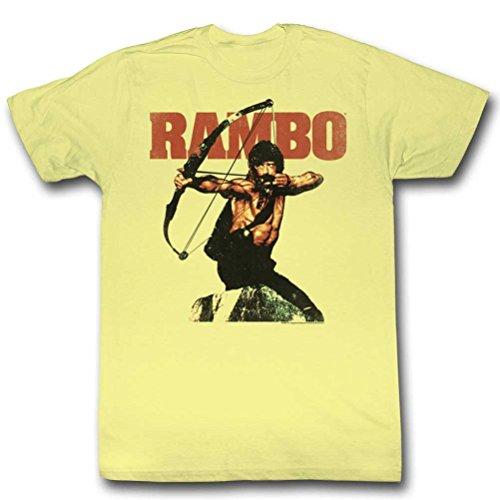 A&E Designs Rambo Archery T-Shirt, Light Yellow, Small