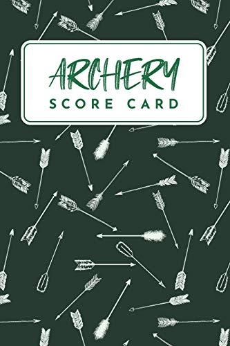 Archery Score Card: Archery Score Keeper Scoring Helper ; Individual Sport Archery Training Green...