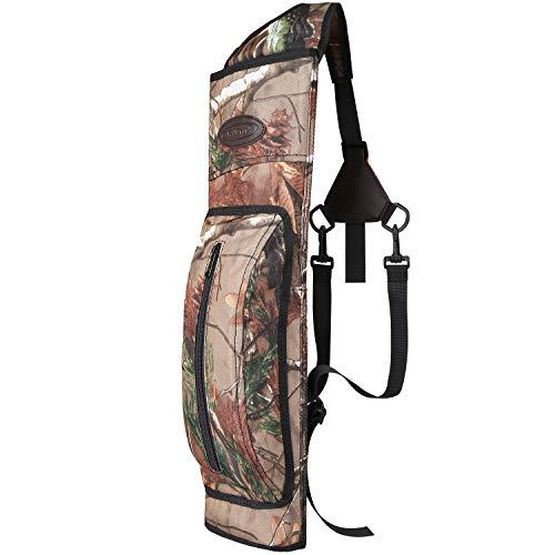 G4Free Archery Back Arrow Quiver Shooting Shoulder Hanged Target Arrow Bag Holder