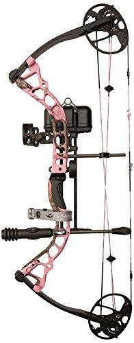 Diamond Archery Infinite Edge Pro Bow Package, Pink Blaze, Left Hand