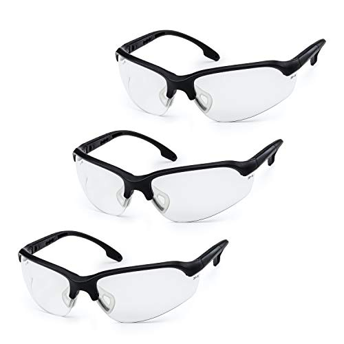 SolidWork Shooting Glasses with Ballistic Impact Protection | Pack of 3 | Eye Protective Tactical...