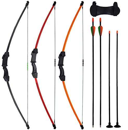 CPTARCH 45' Archery Bow and Arrow Set Takedown Recurve Bow Sports Game Hunting Target Shooting CS...