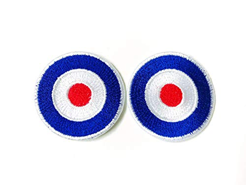 TH Miniature Size Set 2 Tiny Cute Archery Target Cartoon Logo Embroidered Sew on Iron on Patch for...