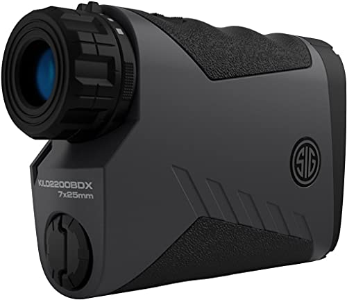Sig Sauer Kilo 2200 BDX Laser Rangefinder 7x25 mm (3,400 Yards) - for Shooting, Hunting, and Golf -...