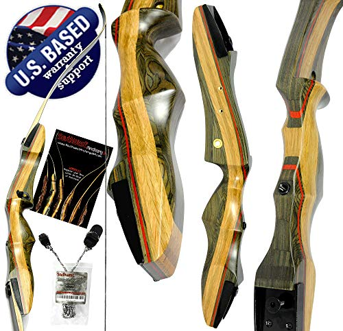 Southwest Archery Spyder Takedown Recurve Bow – Compact Fast Accurate 62' Hunting & Target Bow –...