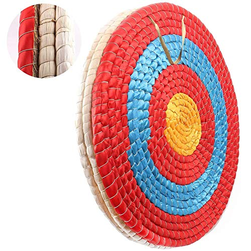 DOSTYLE Traditional Solid Straw Round Archery Target Shooting Bow Coloured Rope Target Face Three...