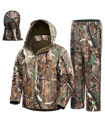 NEW VIEW Upgraded Hunting Clothes for Men,Silent Water Resistant Hunting Suits,Hunting Jacket and...