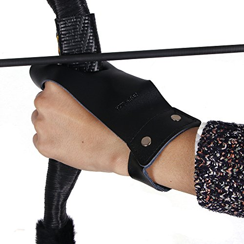 Huntingdoor Archery Hand Guard Shooting Glove Hand Protector Traditional Longbow Protective Gear Cow...