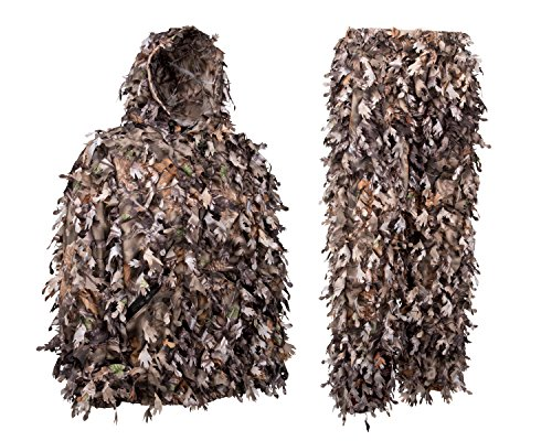 North Mountain Gear Woodland Camo Ghillie Suit 3D Leaf with Zippers and Pockets