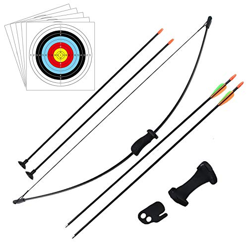 DOSTYLE Outdoor Youth Recurve Bow and Arrow Set Children Junior Archery Training Toy for Kid Teams...