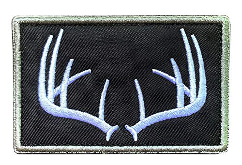 Antrix Antlers Wildife Hunting Patch Hook and Loop Fastener Emblem Patch Embroidered Military Badge...