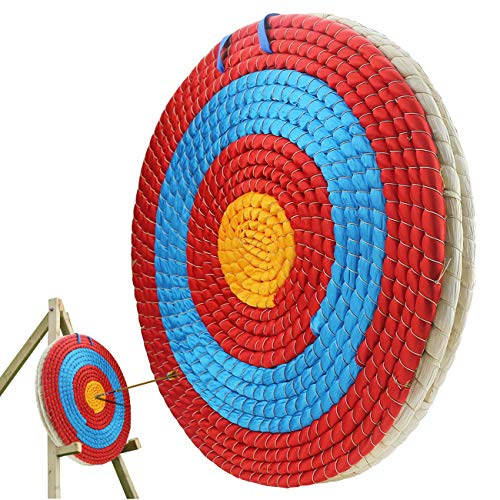 Ogrmar 3 Layers 20 inch Traditional Solid Straw Archery Target 2.2 inch Thickness Hand-Made Arrows...