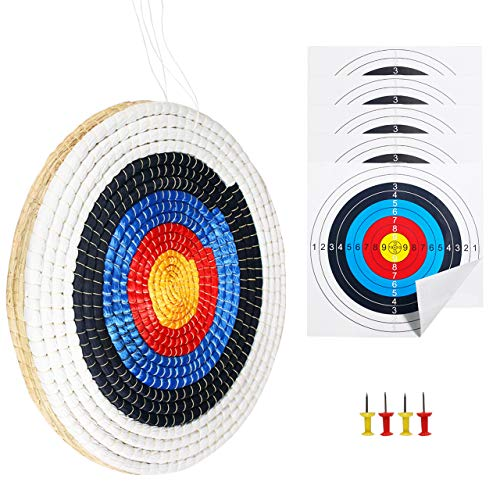 SinoArt Traditional Solid Straw Round 3 Laryes Hand-Made Archery Target Face for Recurve Bow Longbow...