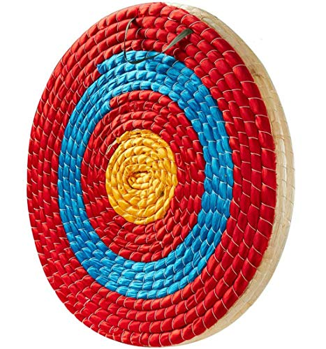 TBONTBY Traditional Solid Straw Archery Target, 3 Layers 19.5 x 2.2inches Arrows Target for Recurve...