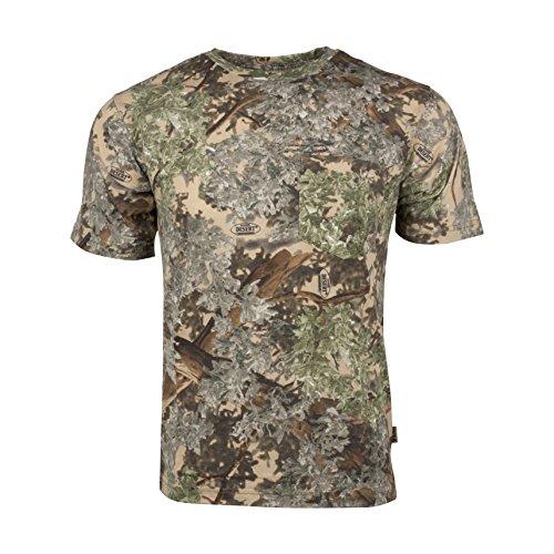 King's Camo Cotton Short Sleeve Hunting Tee, Desert Shadow, Large