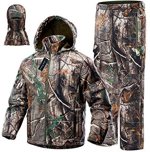 NEW VIEW Upgraded Hunting Clothes for Men,Silent Water Resistant Hunting Suits,Turkey Hunting Jacket...