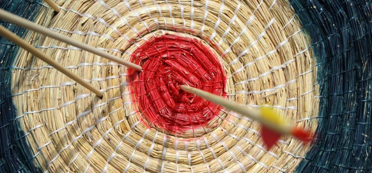 coiled straw archery target